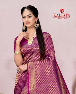 Kalista Usha Party Wear Banarasi Silk Saree Collection