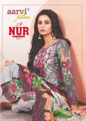 Aarvi Fashion Nur 2 Karachi Dress Material Collection