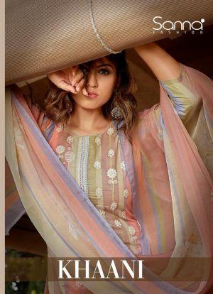 Sanna Khaani Printing With Fancy Work Salwar Kameez Collection