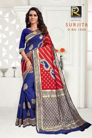 Ronisha Surjita Casual Wear Silk Saree Collection