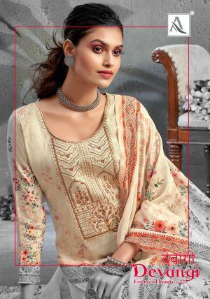 Alok Devangi Pure Jam Designer Dress Material Collection