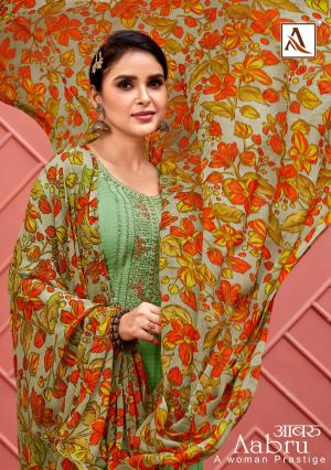 Alok Aabru Digital Style Print with Fancy Thread Embroidery Collection