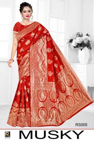 Ronisha Musky Casual Wear Silk Sarees Collection