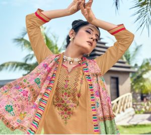 Kainath Jam Silk with Embroidery Work Designer Dress Material Collection