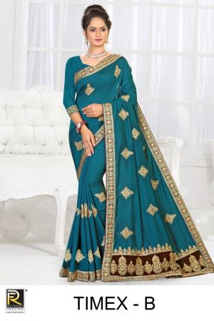 Ronisha Timex Festive Wear Designer Saree Amazing Collection