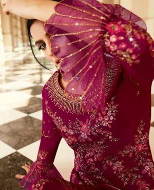 Zaina Pure Georgette With Embroidery Swarovski Work Salwar Kameez
