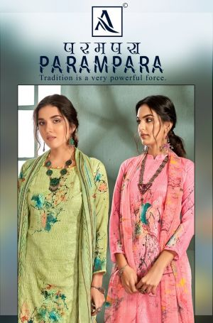 Alok Parampara Pure Jam Designer Printed Dress Material Collection