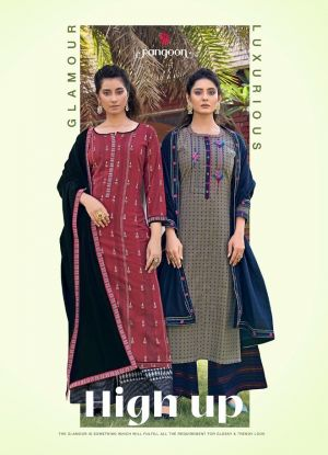 Rangoon High Up Wear Embroidery Fancy Work Ready Made Dress Collection