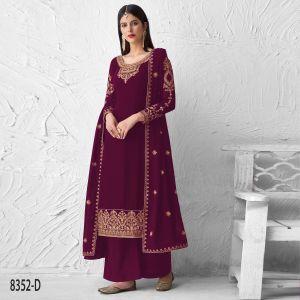 Saffron 8352 Series Heavy Georgette Designer Salwar Suits Collection