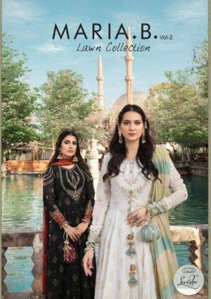 Levisha Maria B Lawn 2 Lawn Cotton Pakistani Salwar Kameez Collection