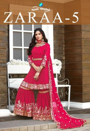 Your Choice Zaraa 5 Heavy Wear Georgette Embroidery Salwar Kameez Collection