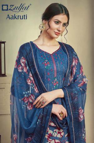 Zulfat Aakruti 2 Digital Printed Designer Dress Material Collection