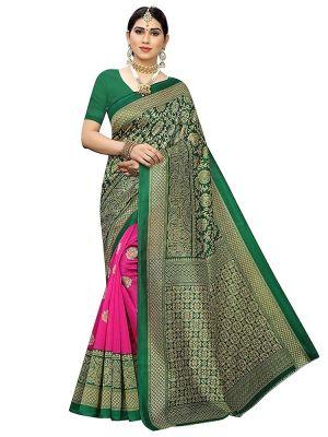 Pf 311 Casual Wear Art Silk Printed Saree Collection