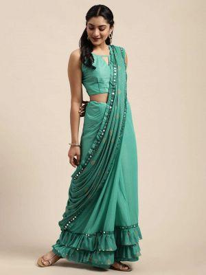 Meera 15 Casual Wear Ruffel Silk Saree Collection