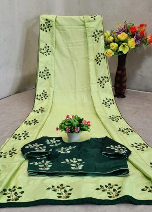 Mahek 42 Party Wear Designer Dola Silk Saree Collection