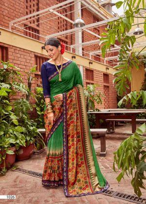Kalista Falak Causal Wear Vichitra Silk Saree Collection