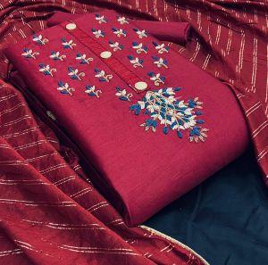 Swarna 3 Jam Cotton Designer Dress Material Collection