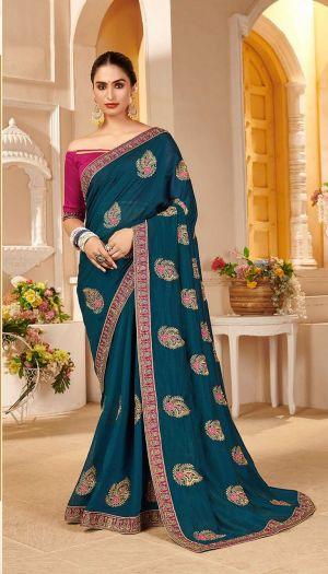 Kalista Sunaina 3 Party Wear Designer Vichitra Silk Saree Collection
