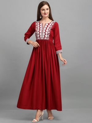 Suhani Manvi 3 Classic Cotton Long Anarkali Kurti Collection