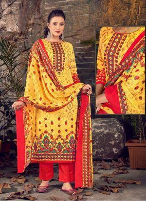 Ruhani Regular Wear Cotton Dress Materail Collection