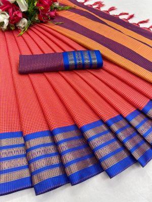 Maahi 34 Casual Wear Designer Cotton Silk Saree Collection