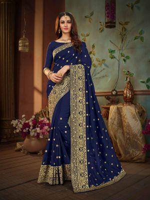 Suhani 438 Vichitra Silk Embroidery Saree Collection