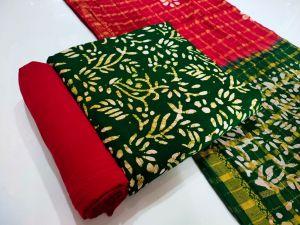 Rayon Premium Batik Print 1 Dress Material Collection