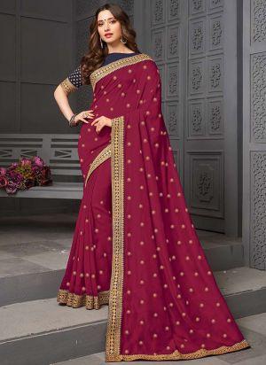 Suhani 393 Vichitra Embroidery Silk Saree Collection