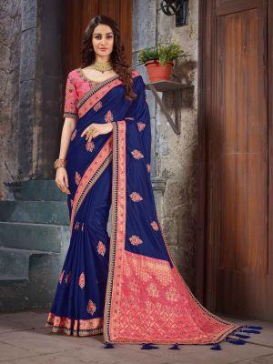 Suhani 543 Festive Wear Art Silk Embroidery Saree Collection