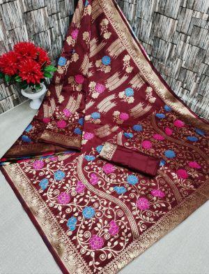 Maahi 40 Party Wear Banarasi Silk Saree Saree Collection