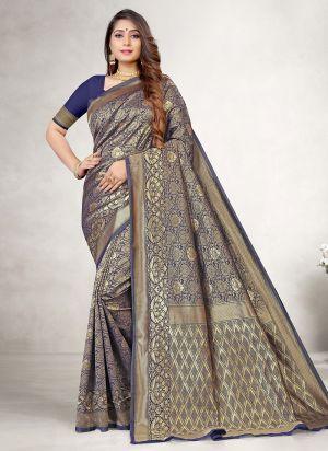 Lakshya Vidya 16 Jacquard Silk Sareen Collection