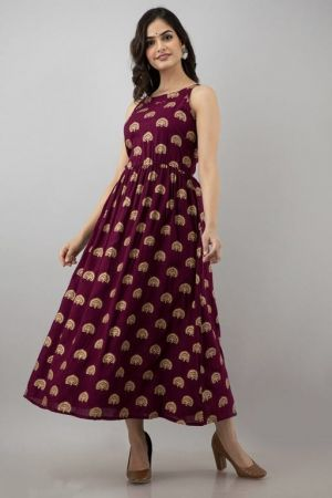 Rayon 2 Fancy Wear Anarkali Long Kurti Collection