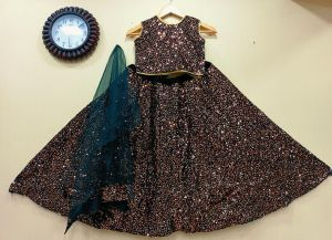 Kids Sequence 1 Party Wear Lehenga