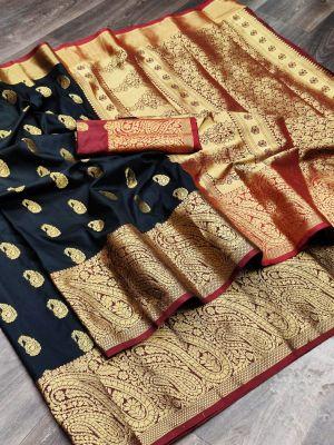 Meera 40 Party Wear Heavy Banarasi Silk Saree Collection