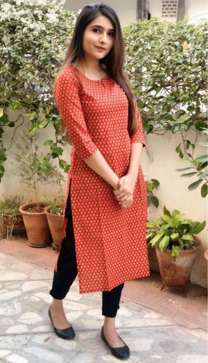 Rosey 10 Fancy Wear Cotton Kurti With Bottom Collection