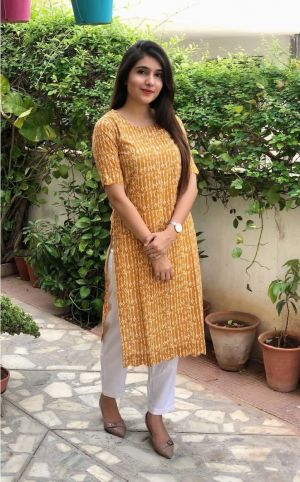 Rosey 11 Fancy Wear Cotton Kurti With Bottom Collection
