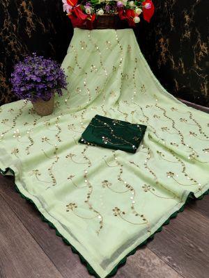 Mahek 53 Casual Wear Printed Chiffon Saree Collection