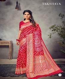Takshaya Aarya Designer Semi Dola Silk Saree Collection