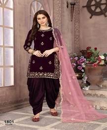 Twisha 1800 Colors Wedding Wear Velvet Salwar Suits Collection