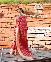 Sasya Rangreja Designer Silk Weaving Brasso Saree