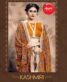 Apple Kashmiri 10 Designer Pashmina Silk Saree