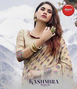 Apple Kashmiri Premium 3 Designer Pashmina Silk Saree