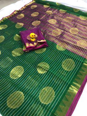 Aura 1964 Cs Running Wear Chanderi Cotton Saree Collection