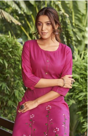 Banwery Blend 7 Ethnic Wear Embroidery Work Kurti Collection