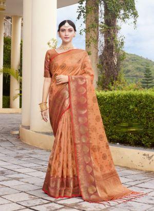 Sangam Bhavika Organza Weaving Silk Saree Collection