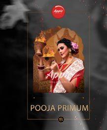 Apple Pooja Premium Designer Linen Saree