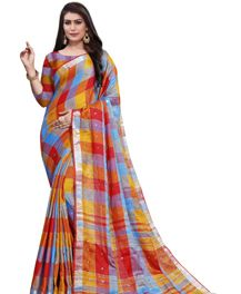 Linen Crystal 10 Designer Festive Wear Saree