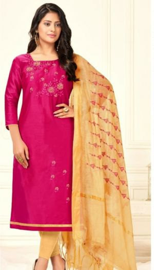 Mrudangi Fancy Wear Cotton Dress Material Collection