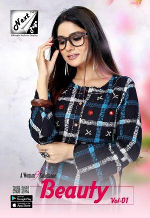 Next Page Beauty 1 Rayon Printed Kurti