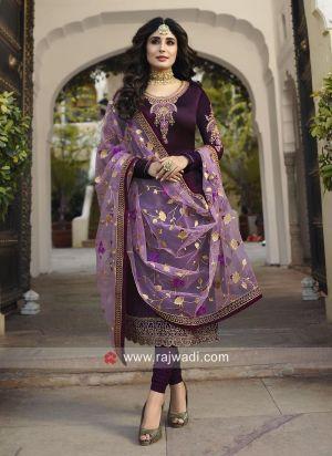 Kritika 22425 Colors Heavy Dupatta Satin Georgette Straight Salwar Kameez